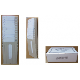 Casellario portacartellini in plastica 5 posti per cartellini mensili