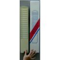 Casellario portacartellini in plastica da 15 posti