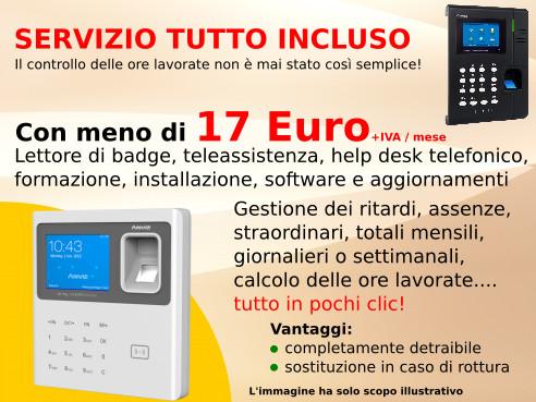 noleggio sistema rilevazione presenze da 150 euro